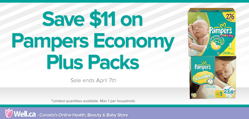 Well Save $11 on Pampers Economy Plus Packs (Until Apr 7)
