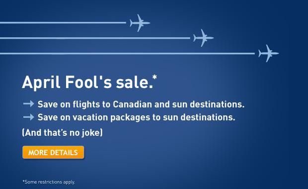 WestJet April Fool's Sale