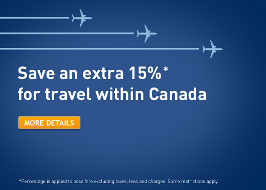 WestJet Extra 15 Off Travel within Canada (Book by Apr 26)