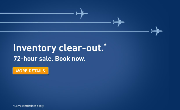 WestJet Inventory Clear-Out Sale (Book by April 18)