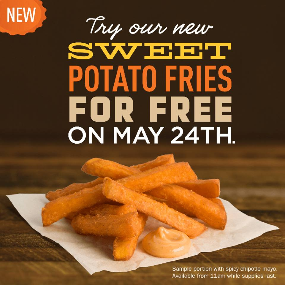 A&W FREE Sweet Potato Fries Today (May 24)