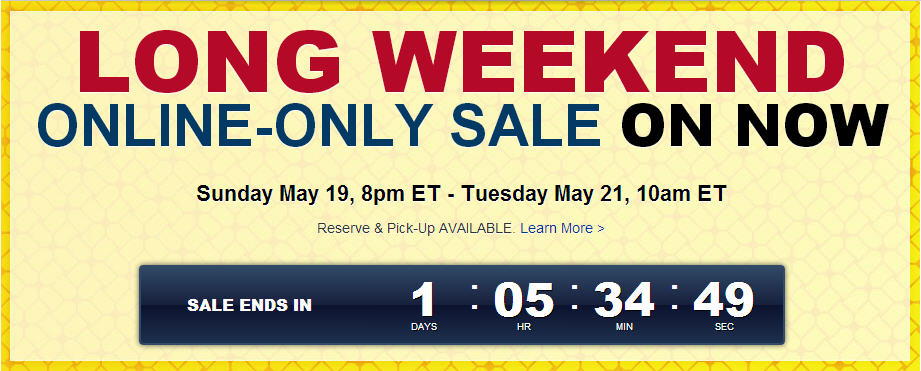 Best Buy Long Weekend Online-Only Sale On Now (May 19-21)