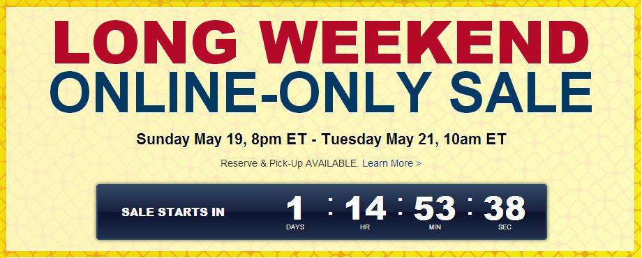 Best Buy Long Weekend Online Sale (May 19-21)