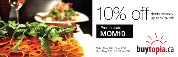 Buytopia Extra 10 Off All Deals Promo Code (May 10-12)