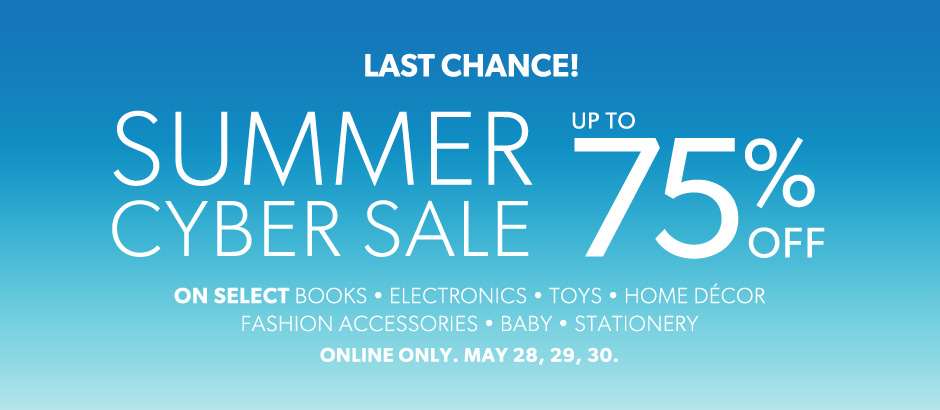 Chapters Indigo Summer Cyber Sale – Up to 75 Off Select Items (May 28-30)