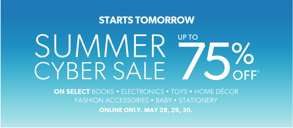 Chapters Indigo Summer Cyber Sale - Up to 75 Off Select Items (May 28-30)