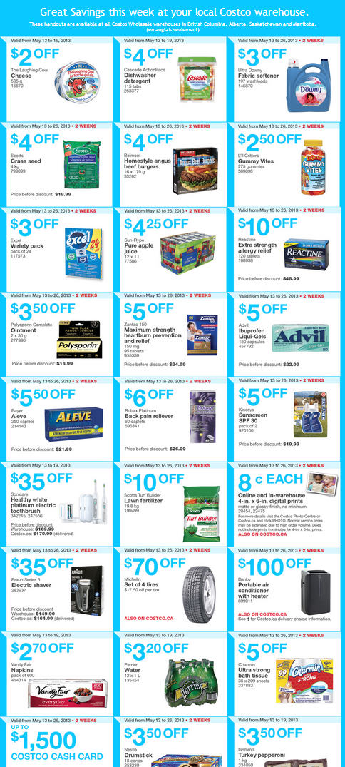 Costco Weekly Handout Instant Savings Coupons WEST (May 13-19)