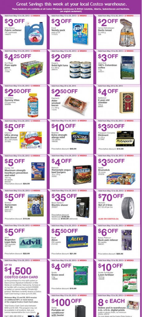 Costco Weekly Handout Instant Savings Coupons WEST (May 20-26)
