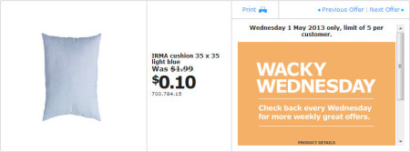 IKEA - Calgary Wacky Wednesday Deal of the Day (May 1) A