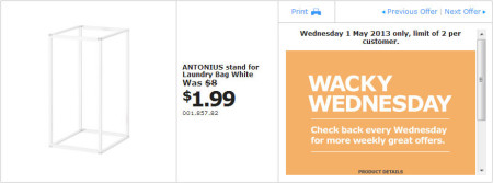 IKEA - Calgary Wacky Wednesday Deal of the Day (May 1) D