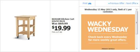 IKEA - Calgary Wacky Wednesday Deal of the Day (May 15)