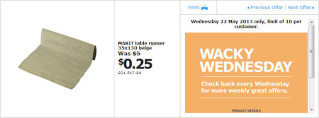 IKEA - Calgary Wacky Wednesday Deal of the Day (May 22) A