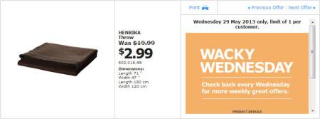IKEA - Calgary Wacky Wednesday Deal of the Day (May 29) A