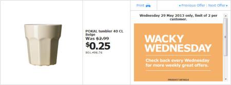IKEA - Calgary Wacky Wednesday Deal of the Day (May 29) B