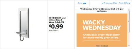 IKEA - Calgary Wacky Wednesday Deal of the Day (May 8) A