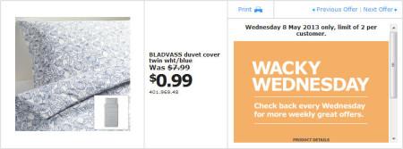 IKEA - Calgary Wacky Wednesday Deal of the Day (May 8) B