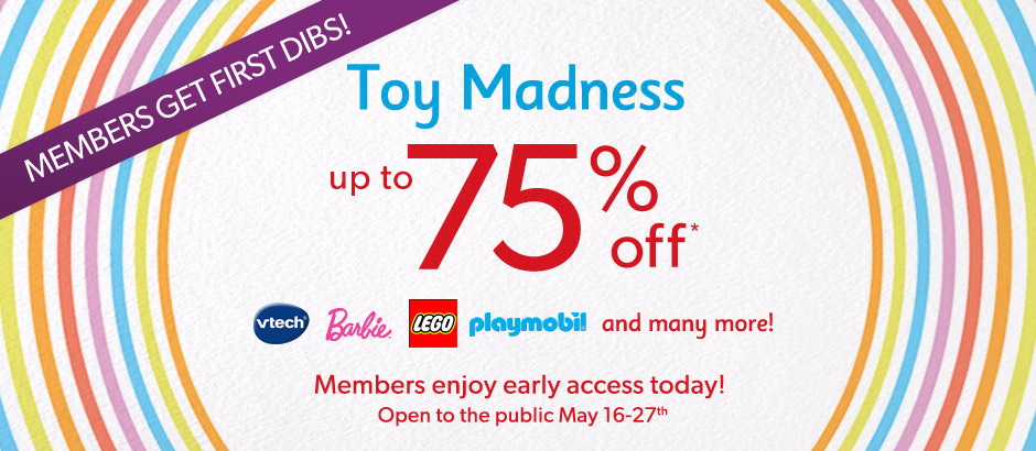 Indigo Kids Toy Madness Sale - Save up to 75 Off (May 16-27)