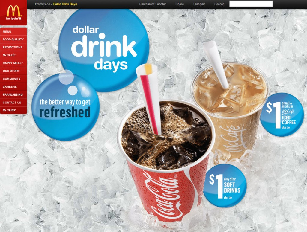 McDonald's Dollar Drink Days - $1 Any Size Soft Drink