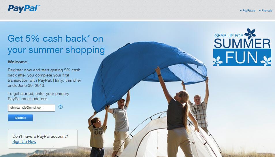 PayPal Get 5 Cash Back Promotion (Until June 30)