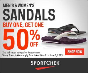Sport Chek Sandals Buy One, Get One 50 Off (Until June 3)