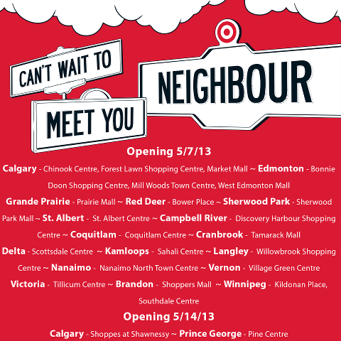Target Canada Opened 24 Stores Across Western Canada (May 7)