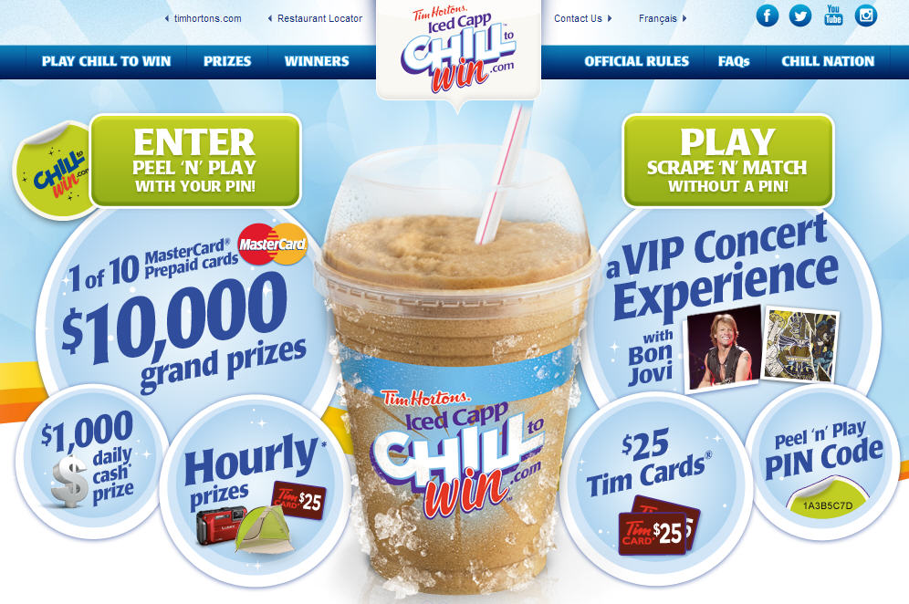 Tim Hortons Chill To Win Contest (May 6 - June 14)