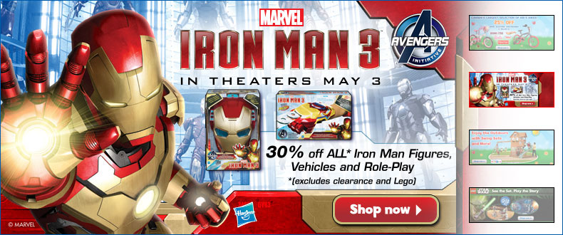 Toys R Us 30 Off All Iron Man 3 Toys (Until May 9)