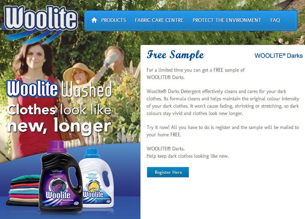 Woolite FREE Sample of Woolite Darks Detergent