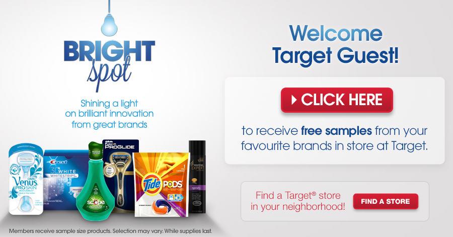 Brightspot SAMPLER FREE P&G Samples!