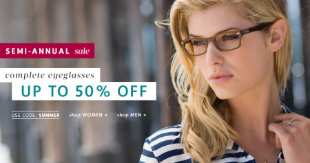Clearly Contacts Semi-Annual Sale - Save up to 50 Off Glasses
