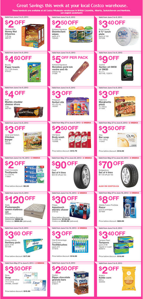 Costco Weekly Handout Instant Savings Coupons (June 3-9)