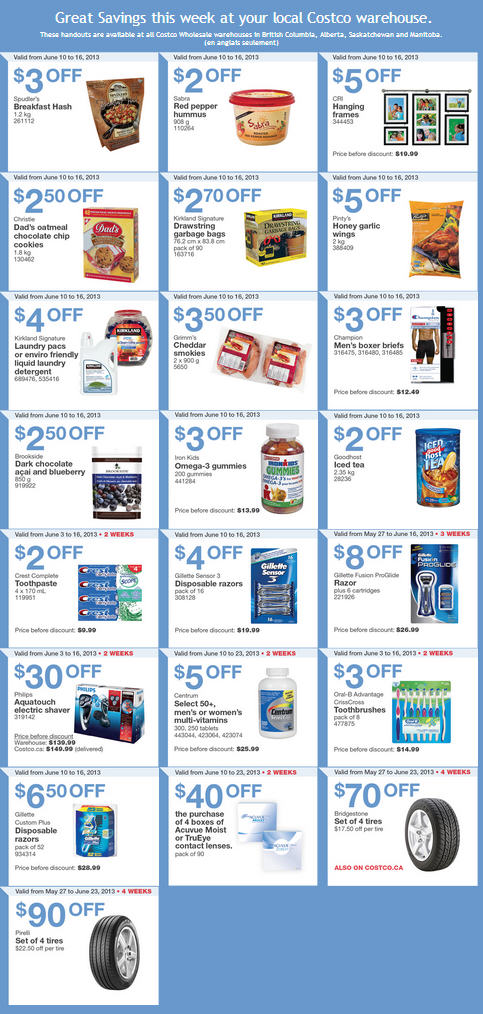 Costco Weekly Handout Instant Savings Coupons WEST (June 10-16)
