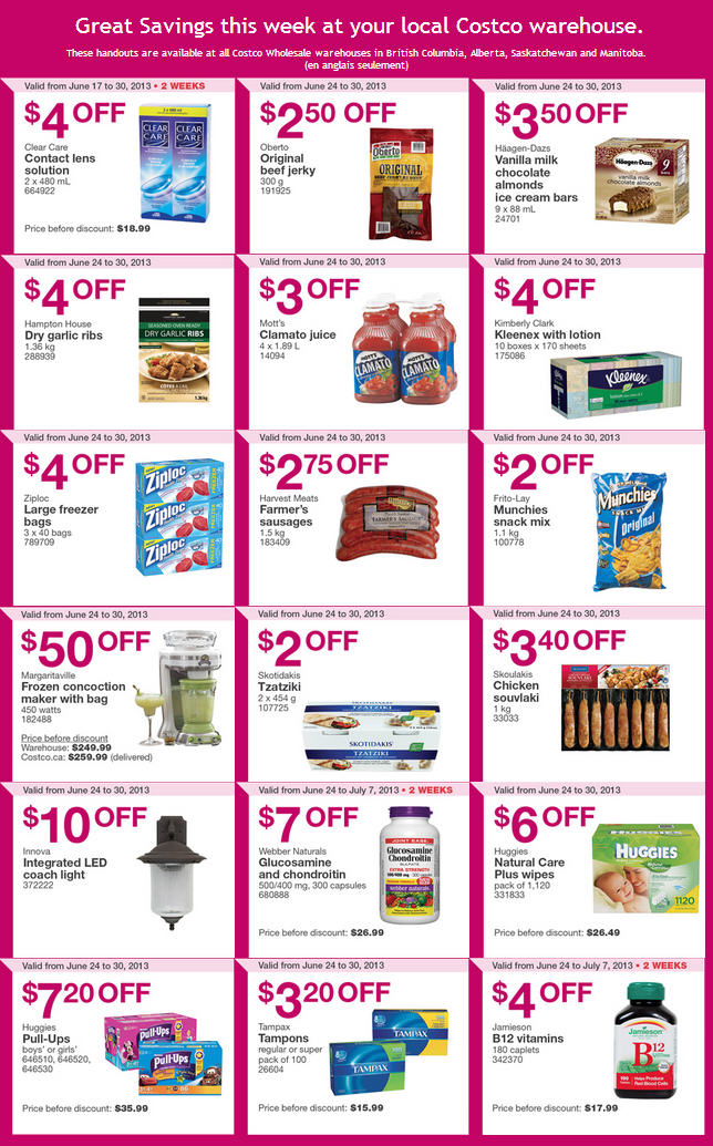 Costco Weekly Handout Instant Savings Coupons WEST (June 24-30)