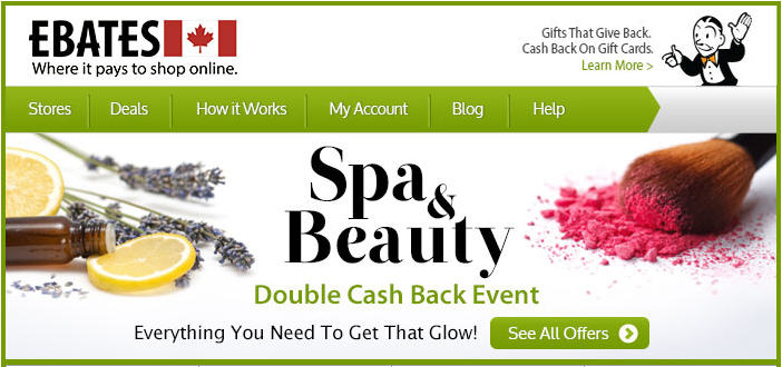 Ebates Spa & Beauty Week - Double Cash Back at Sephora + More