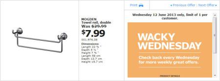 IKEA - Calgary Wacky Wednesday Deal of the Day (June 12) A