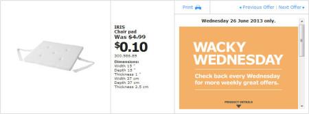 IKEA - Calgary Wacky Wednesday Deal of the Day (June 26) B