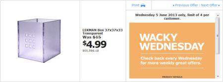 IKEA - Calgary Wacky Wednesday Deal of the Day (June 5) A