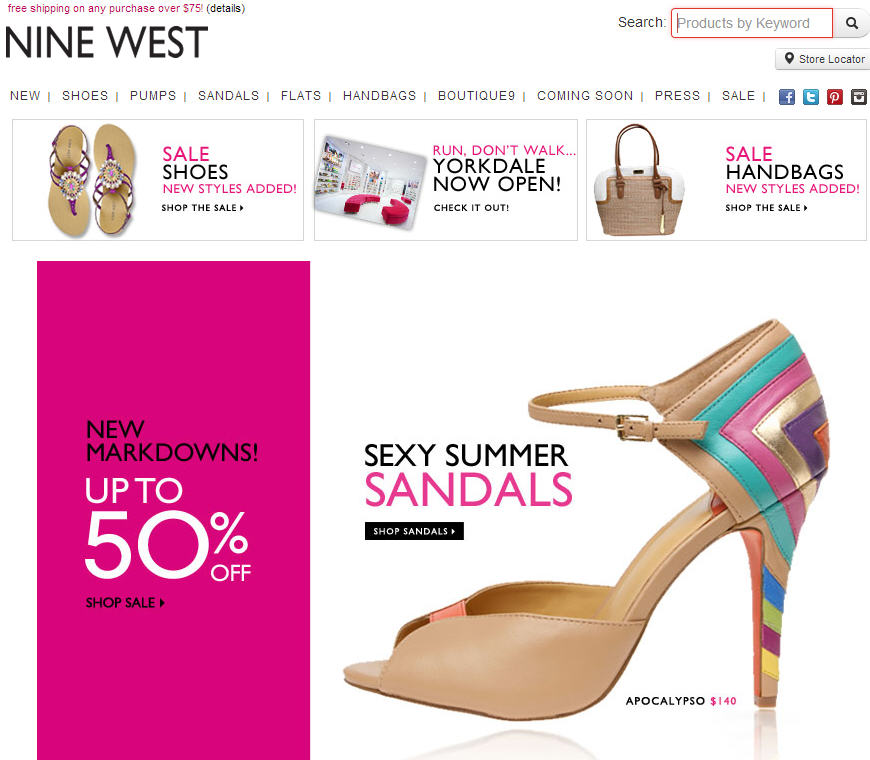Nine West New Markdowns Added - Save up to 50 Off