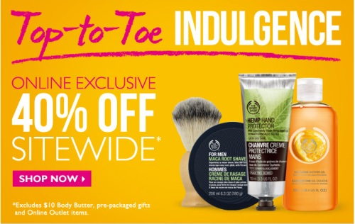 The Body Shop 40 Off Sitewide + 12 Cash Back on Ebates (Until June 2)