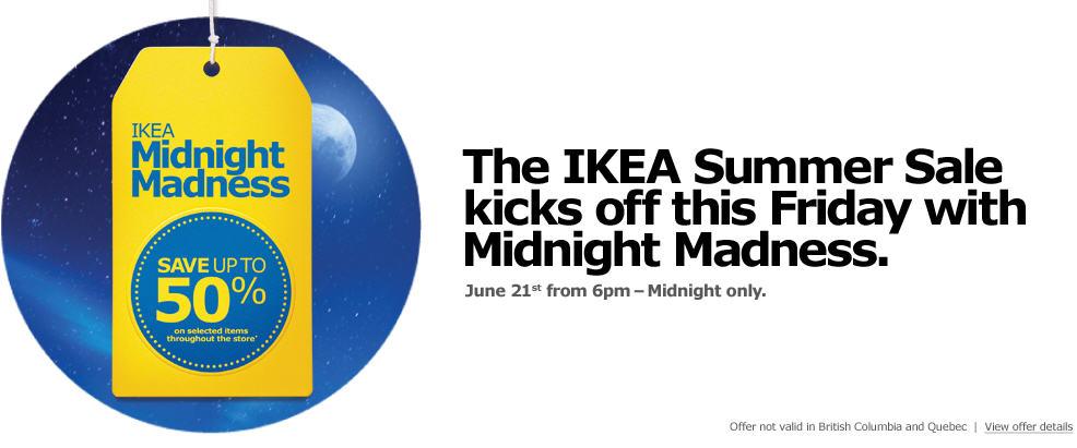 The IKEA Summer Sale (June 21, 6pm-Midnight)