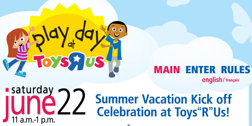 Toys R Us Free Play Day (June 22, 11am - 1pm)