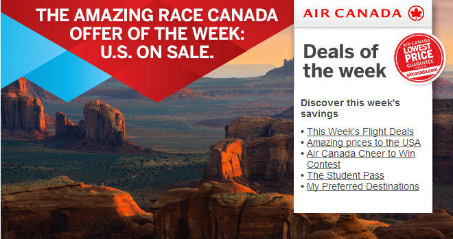 Air Canada Offer of the Week - Discounted Flights to select US Cities (Book by Aug 5)