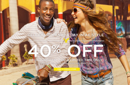 American Eagle 40 Off Your Purchase + Free Shipping