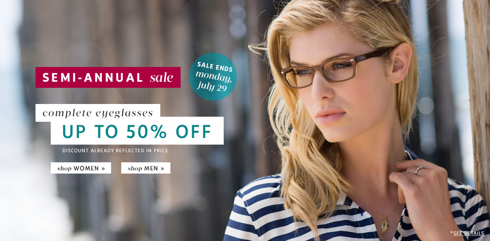 Clearly Contacts Semi-Annual Sale - Save up to 50 Off Glasses (Until July 29)