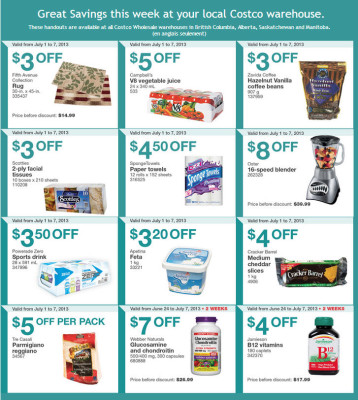 Costco Weekly Handout Instant Savings Coupons (July 1-7)