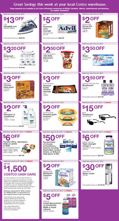 Costco Weekly Handout Instant Savings Coupons WEST (July 15-21)