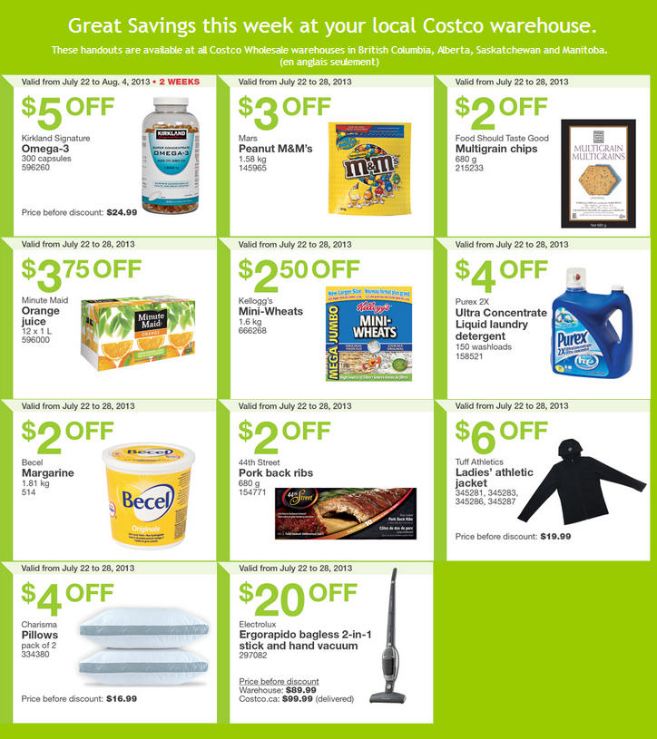 Costco Weekly Handout Instant Savings Coupons WEST (July 22-28)