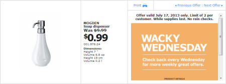 IKEA - Calgary Wacky Wednesday Deal of the Day (July 17) B