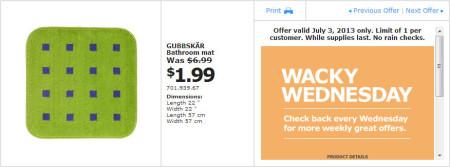 IKEA - Calgary Wacky Wednesday Deal of the Day (July 3) B