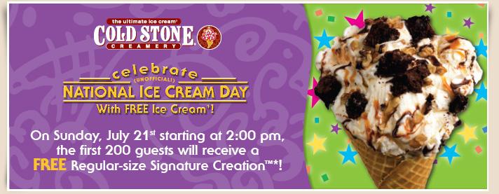 Tim Hortons Cold Stone Creamery FREE Regular-Size Ice Cream (July 21)